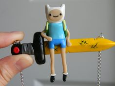 Finn On Scarlet Sword Necklace-Polymer Clay-AT by ~ThePetiteShop on deviantART