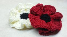 How to #Crochet Easy Poppy Flower #TUTORIAL DIY Crochet Flower