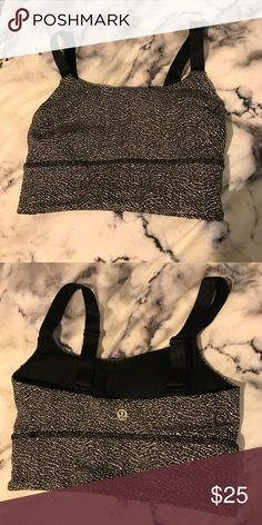 Super cute Lululemon bra! Salt and pepper colored lulu bra lululemon athletica Intimates & Sleepwear Bras