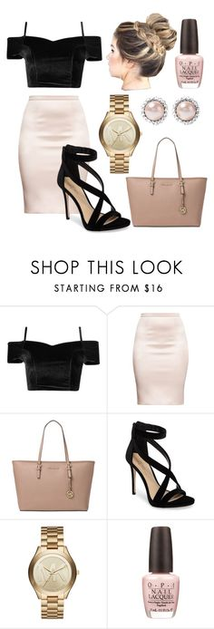 """Date Night💄"" by itssasia ❤ liked on Polyvore featuring Michael Kors, Imagine by Vince Camuto, OPI, Miu Miu, DateNight, contest, like4like, follow4follow and everdayweslay"