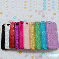 1pc Bling Shiny Paillette Phone Back Housing Case Cover For Iphone 5 Colorful