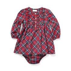 Plaid Cotton Dress & Bloomer - Dresses & Skirts  BABY GIRL APPAREL - RalphLauren.com