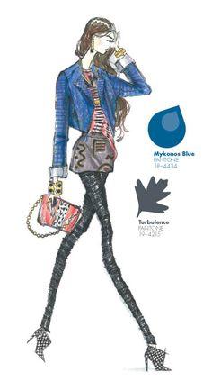 Kelly Wearstler - PANTONE Color Mykonos Blue - Pantone Fashion Color Report, Fall 2013
