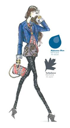 Kelly Wearstler - PANTONE Color Mykonos Blue - Pantone Fashion Color Report, Fall 2013