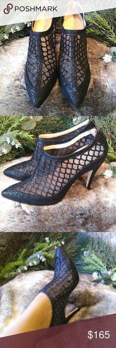 Shoes Carmen Marc Valvo-Calzature designer ladies booties in lace Carmen Marc Valvo Shoes Ankle Boots & Booties