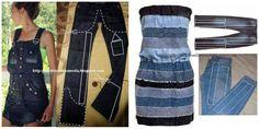 DIY Nápady Opakovaně staré džíny