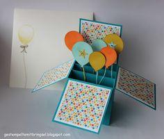 Gestempelte Mitbringsel: Card in a Box