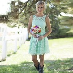 Country Western Mint Green Lace Bohemian Bridesmaid Dresses 2016 Beach Scoop Neck Short Wedding Guest Dresses Party Gown Lemon Bridesmaid Dresses Light Purple Bridesmaid Dresses From Iathena, $75.4| Dhgate.Com: