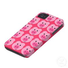 Cute Pink Pig Pattern iPhone 4/4S Case I love this too.