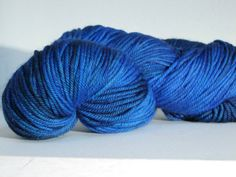 Blues in varying depths of colour may contain some blue-black and hints of purple too! Simply heavenly!  Normandy blue is the colour I used to paint the outside of my studio! I love this colour so much I had to dye up some yarn....ok....thats not how it went...I dyed up the yarn first and then found that the colour I chose for the wooden panels around my studio were the same colour!...so I called it Normandy blue...what else could I do :)  The Island Time Merino in worsted wt has a much…