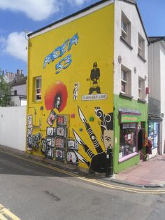 Street art in Trafalgar Lane, Brighton, East Sussex