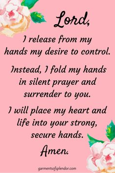 Prayer for Release