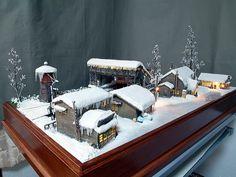 Yutaka Nakai YutaAtelier 090518 HO 16.5mm gauge Diorama OZAKI Station snow scene