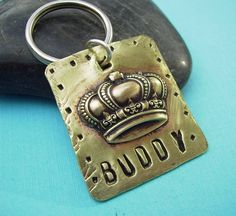 King or Queen Puppy Dog or Cat Pet Id Tag  by accessoryalamode, $15.95