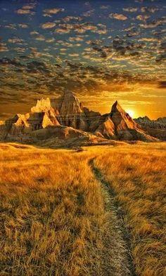 Badlands, South Dakota, U.S..