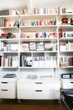 Super home office shelves bookshelves ikea billy ideas Ikea Closet Shelves, Ikea Bookshelf Hack, Home Office Shelves, Office Bookshelves, Bookshelf Design, Closet Storage, Storage Shelves, Bookshelf Ideas, Office Storage
