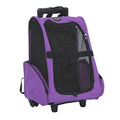 Pettom Pet Carrier Roll Around 4 in 1 Travel Tote Backpack for DogsCats Airline Approved Purple -- You can find more details by visiting the image link.