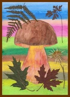 Kreslíme houby s rourkami School Art Projects, Fall Projects, Christmas Projects, Autumn Crafts, Autumn Art, Beginning Watercolor, Art For Kids, Crafts For Kids, Diy Wings
