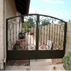 Offering a wide selection of custom wrought iron gates, providing beauty and security. Custom designs at affordable prices. Call today: (800) 360-1788