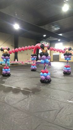 Minnie mouse dancefloor #balloons by events by car'lisa