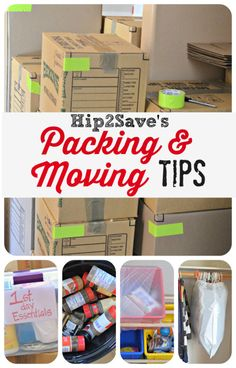 "Hip2Save's Packing + Moving Tips! Pack your home like a pro. ""Tip 2: Assign a different color duct tape to each room so the boxes are easier to identify."" - Great idea! - JD Carton + Son, Your tristate area mover, 973-781-1600."