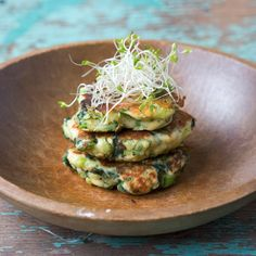 Savory Green Pancakes with Lime Butter by playinwithmyfood: Made with spinach, green chilies, and scallions. Try them with grilled shrimp and a salad! #Pancakes #Green