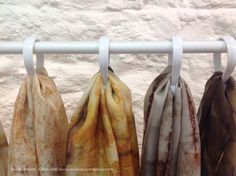 DIY naturally printed scarf display from Nicola Brown - Clasheen