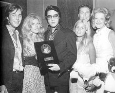 Being presented with the National Academy of Recording Arts and Sciences Lifetime Achievement Award in Las Vegas on August 28, 1971.