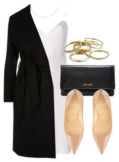 Untitled #12008 by vany-alvarado on Polyvore featuring polyvore moda style Yves Saint Laurent River Island Christian Louboutin Kendra Scott Cartier fashion clothing