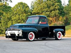 truck black, wheel, black beauti, 53 ford, dream car, ford truck, 1954 ford, sweet truck, project ride