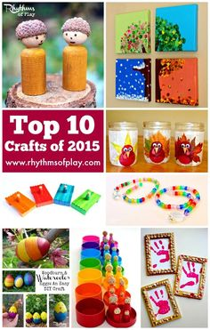 These were the top 10 crafts of 2015 found on Rhythms of Play. They were the most visited, pinned, and shared craft posts that were published. Easy Diy Crafts, Diy Craft Projects, Crafts To Do, Projects For Kids, Crafts For Kids, Craft Ideas, Diy Wood Wall, Popular Crafts, Craft Activities