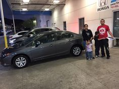 """Findlay Honda Henderson, Oscar Del Cid, Congrats to the Sanchez Family on their new certified Honda Civic LX, I appreciate your business, Want to be the next Happy Customer? Come see me Oscar Del Cid at Findlay Honda Henderson in the Valley Auto Mall."""