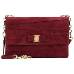 Salvatore Ferragamo Ginny Suede Shoulder Bag (2.680 BRL) ❤ liked on Polyvore featuring bags, handbags, shoulder bags, red, salvatore ferragamo, salvatore ferragamo handbags, shoulder bag purse, red purse and shoulder hand bags
