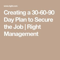Example of the business plan for 306090 days baby pinterest creating a 30 60 90 day plan to secure the job right management cheaphphosting Gallery