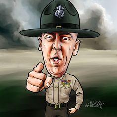 Get on your face and give me 25. Sergeant Hartman. #fullmetaljacket #sergeanthartman #gunnery #caricature