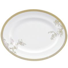 "Wedgwood - Lace Gold 13.75"" Oval Platter"