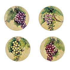 VENETIAN VINEYARD SALAD PLATES - SET OF 4