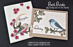 July Stamp set of the Month  - Best Birds - by Melissa Davies @rubberfunatics #rubberfunatics #bestbirds #stampinup