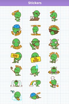 Chuck the T-Rex Stickers for Indoona by SquidandPig www.squidandpig.com
