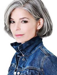 Amazing Gray Hairstyles We Love   Southern Living White Ombre Hair, Teal Hair, Silver Grey Hair, Turquoise Hair, Short Hairstyles For Women, Trendy Hairstyles, Short Haircuts, Gorgeous Hairstyles, Work Hairstyles