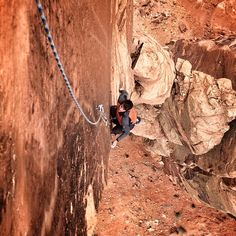 this is Alex Honnold on Chip Tower! Posted from the summit of Monster Tower! Photo: Cedar Wright