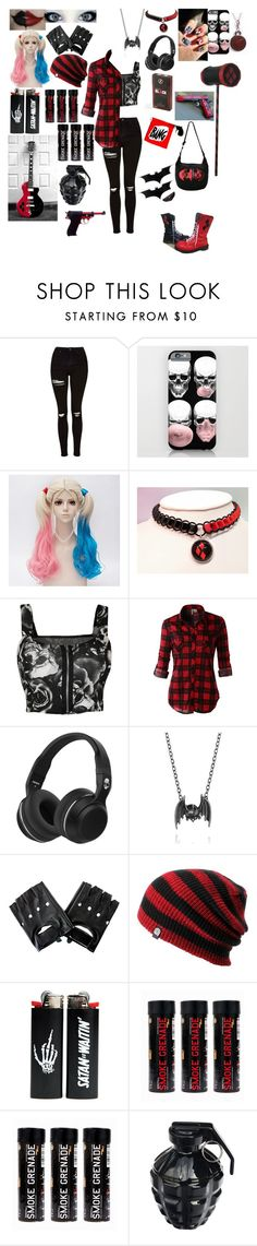 """""""Another modern Harley Quinn"""" by band-themed-outfits ❤ liked on Polyvore featuring Topshop, WearAll, LE3NO, Mad Love, Madstone, MollaSpace and modern"""