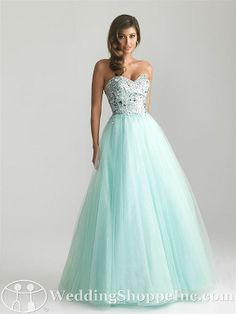 Prom Dresses Night Moves  6669 Prom Dress Mint Prom Dress