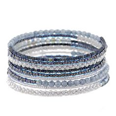Denim Memory Wire Bracelet Kit by FusionBeads.com® | Fusion Beads The finished bracelet will wrap around your wrist approximately 9 times. - See more at: http://www.fusionbeads.com/Denim-Memory-Wire-Bracelet-Kit-by-FusionBeads-com#sthash.9Xl0ARTQ.dpuf
