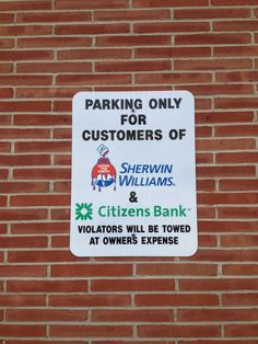 Keep your parking lot in order with parking and traffic signs.