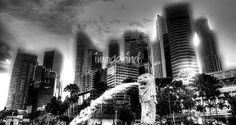 """City Singapore   Black and White Photograph"" by William Yee Khai Teo, Singapore // City Singapore 2013 - Black and White Photography // Imagekind.com -- Buy stunning fine art prints, framed prints and canvas prints directly from independent working artists and photographers."