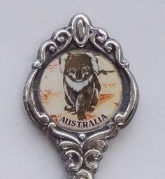 Collector Souvenir Spoon Australia Koala Emblem