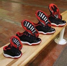"Preorder Nike Air Jordan Retro 11's ""Bred"" Toddler 4C-5Y Ship 5/23 Red Preschool #Jordan #Athletic"