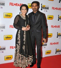 The Idea Filmfare Awards 2013 South was graced by the who's who of the South film fraternity. From celebrities lending glamour and sizzle at the. South Film, Tamil Movies, Bollywood Stars, Awards, Glamour, Couples, Celebrities, Asian Clothes, 5 Hours
