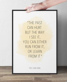 The past can hurt  Lion King Disney Quote by WisePrints on Etsy